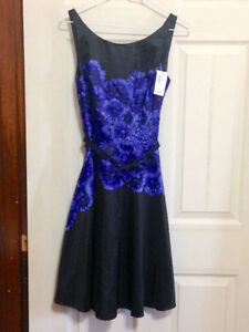 ***BRAND NEW W/ TAGS*** Black dress with Purple Flowers for Sale