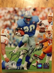BARRY SANDERS Signed Detroit Lions Official NFL Football Photo