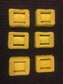Diving Weights - 6 x 4lb (1.8kg) Plastic-coated Lead weights - £8EACH. **OPEN TO OFFERS**
