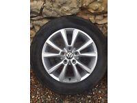 """VW Touareg T3 Genuine 18"""" Alloy Wheels"""