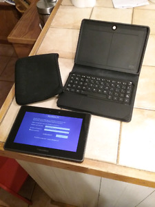 Blackberry Playbook with keyboard and 2 cases