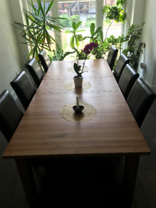 IKEA STORNÄS (Extendable table, antique stain, up to 10 People)