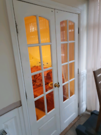 Pair of internal glazed doors