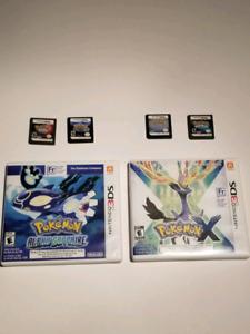 Jeu pokemon DS et 3DS