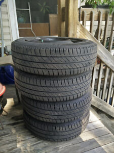 4x Michelin MX4 175/65R14 on rims for Toyota Echo