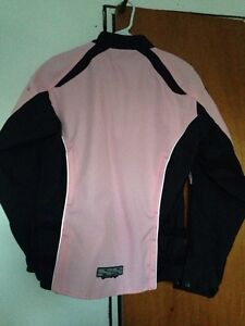 PINK & BLACK Women's motorcycle jacket**Like New** Kawartha Lakes Peterborough Area image 3