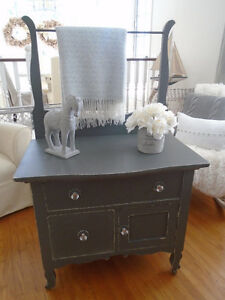 Slate Grey Blanket Cabinet with Bling!