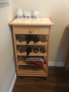 Wine Rack Side Table