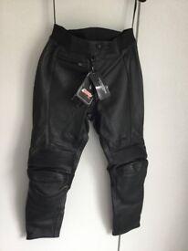 Women's motorbike leather trousers size 14