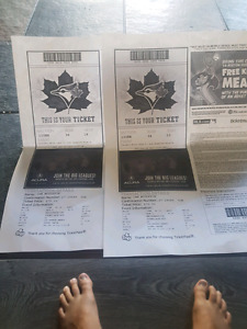 2 TORONTO BLUE JAYS TICKETS FOR JULY 29 VS ANGELS