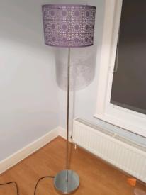 Stem Chrome Floor Lamp with shade