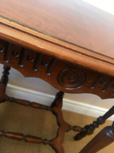 Cute Petite Art Deco Walnut Hall Table See Video