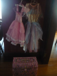 princess dresses and dress up trunk