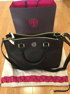 Tory Burch Robinson Double Zip Tote – Black Colour