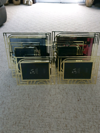 6 Dunelm gold photo frames