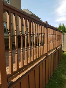 Free deck wood and railings