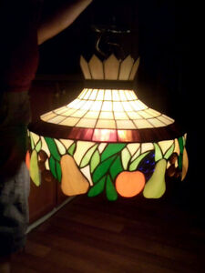 Art deco stained glass lamp