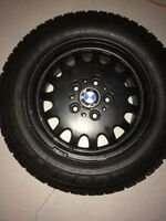 Clean 16 inch oem bmw rims on winter tires