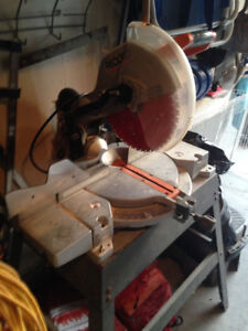 """Rigid 12"""" compound mitre saw with stand."""