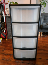 4 drawer plastic storage unit £10