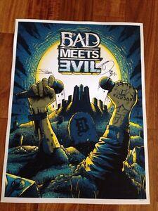 Very rare Eminem signed poster /250 Strathcona County Edmonton Area image 1