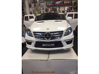 Mercedes ML63 12v Black Parental Remote Control Self Drive