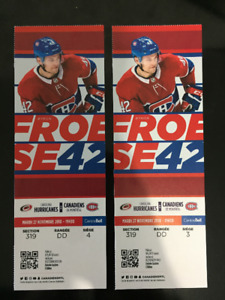 Hurricanes @ Habs - Nov 27 - Centre Ice Whites @ Face Value