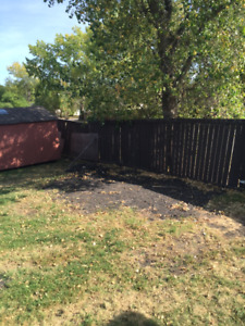 6 Foot Wood Fence for sale. Over 300 L feet of fence