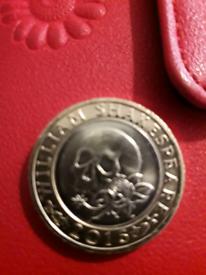 Rare William Shakespeare 2016 £2 coin in excellent condition
