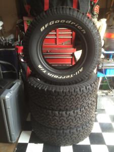 LT225/75R16 BFGoodrich All-Terrain TA Tires - Like New