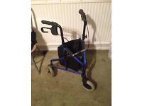 Lightweight Tri-Wheeler Folding Walking Aid/Frame