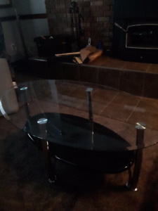 Bar Stools and Glass Table for Sale