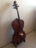 PRICE REDUCED - Cello 4/4 Spruce /Maple -New Bow,New Soft Case
