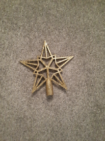 FREE Gold Star Christmas Tree Topper