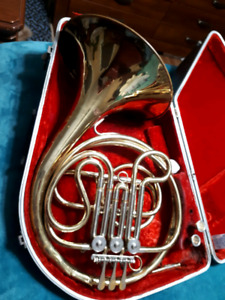 single french horn - used but works