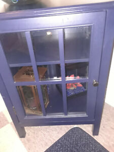 Accent Table With Glass Door