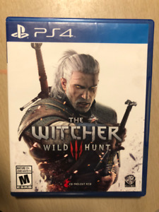 The Witcher 3: Wild Hunt (PS4) complete w soundtrack/stickers