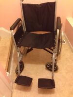 Adult wheelchair and commode