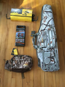 Cabela's rifle bag, fanny, hoist system and processing set