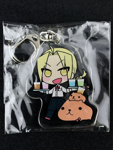 Fullmetal Alchemist Acrylic Key Holder Ring Collabo-Cafe Kapibara Edward Elric