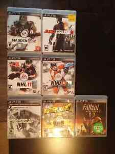 8 PS3 Playstation 3 Game Lot