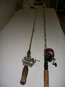 Older Spin Cast Fishing Rod and Antique Reel/Rod