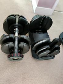 Adjustable Dumbbells 40kg pair (80kg total)