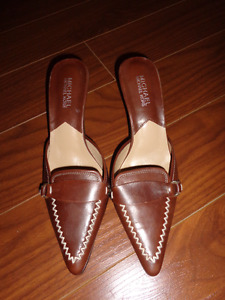 Michael Kors brown leather shoes, size 8 (new)