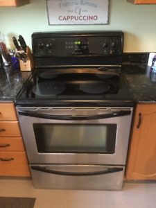 stainless oven and range hood