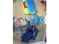 Boys bedding, curtains and light cover