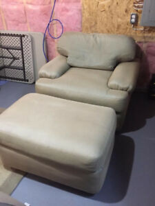 Chair and Ottoman For Sale