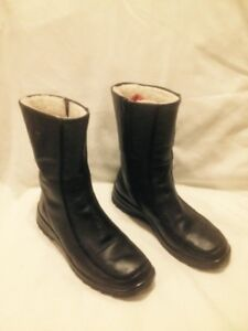 Almost New Black Leather Rieker Classic Midcalf Winter Boots 40M