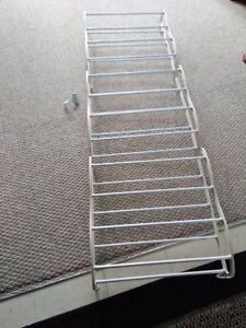 3 Tier Shoe rack. metal with wall bracket....Take Today for $20