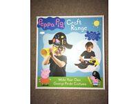 Brand new- peppa pig craft range- George pirate costume